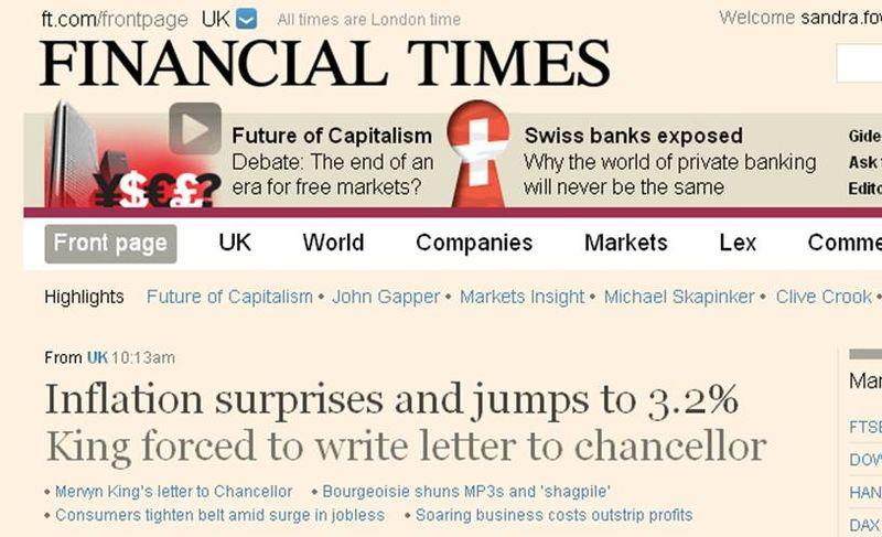 FT.com inflation headline